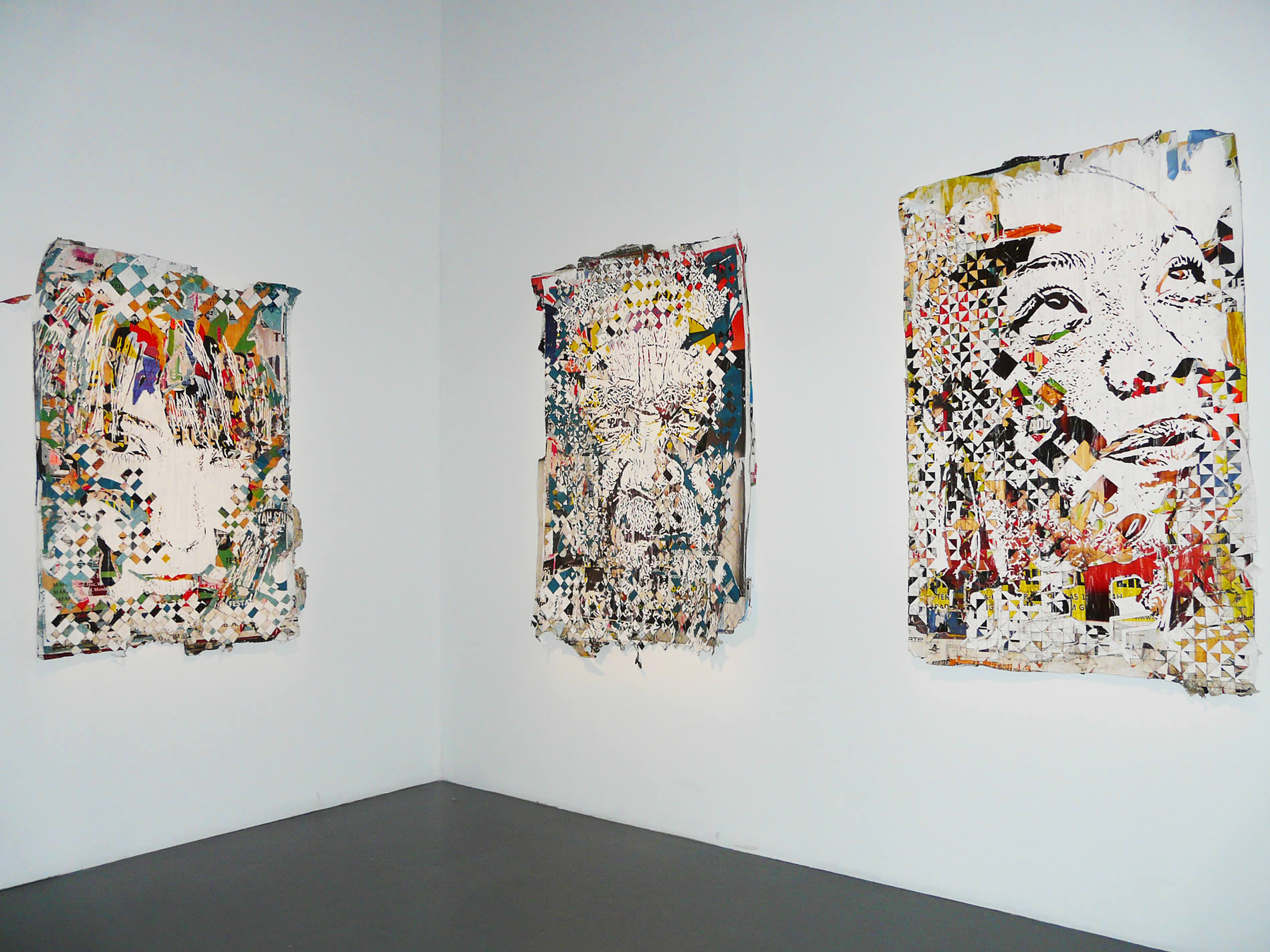 portraits cutout-collage by vhils