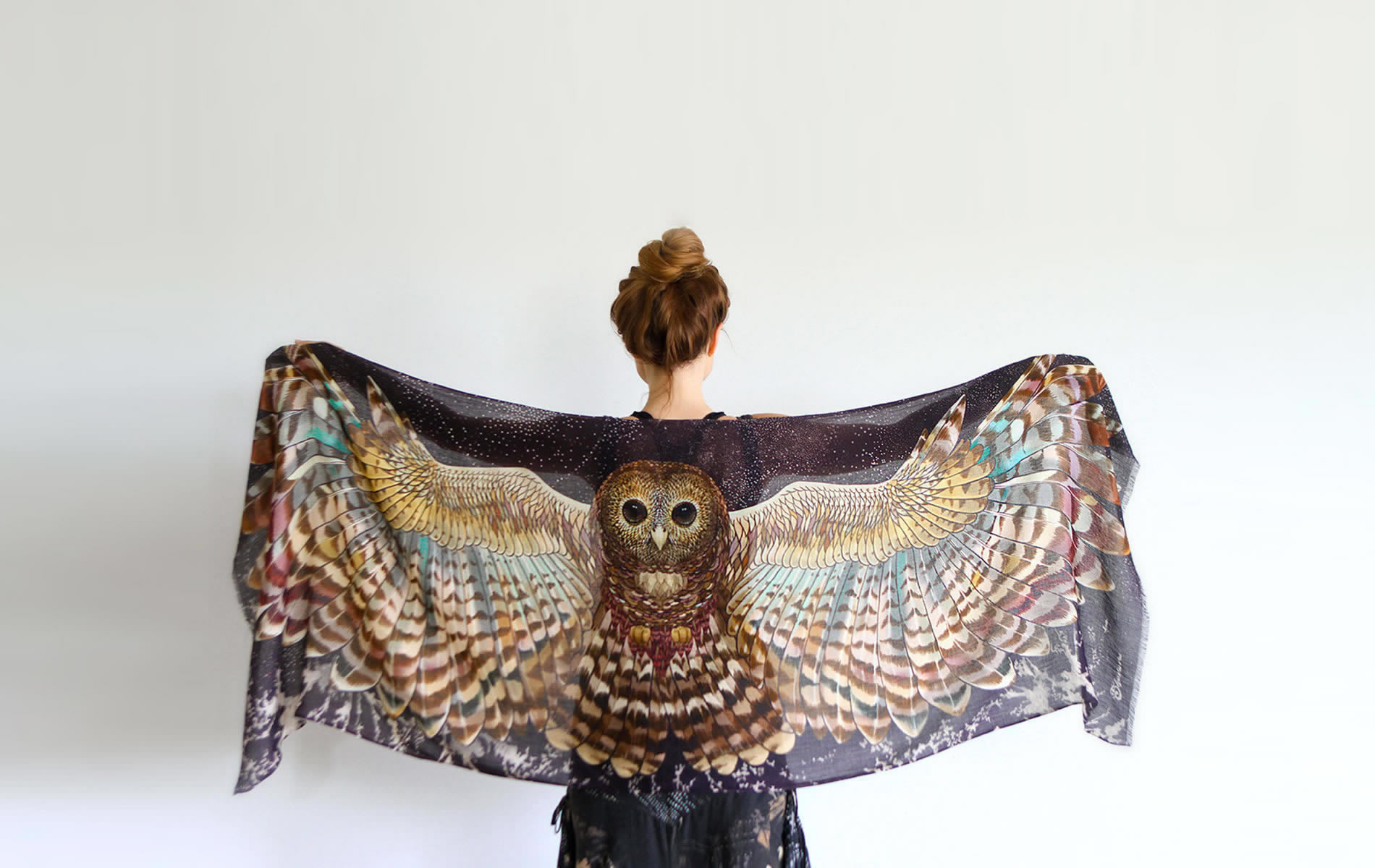 owl scarf by shovava (etsy)