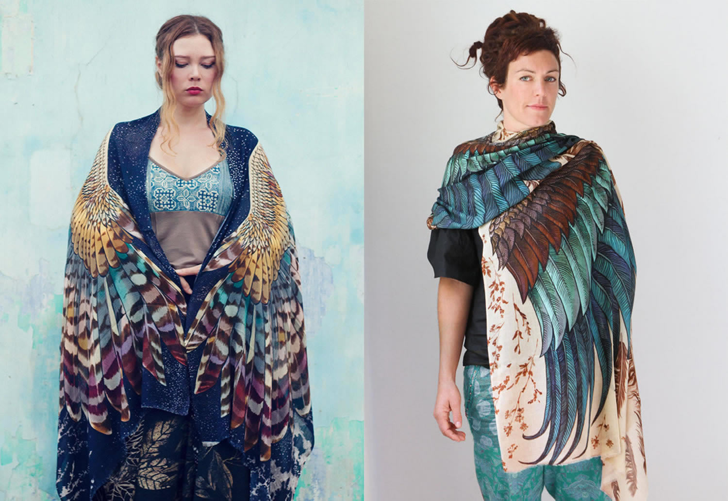 bird wing scarves by shovava (etsy)