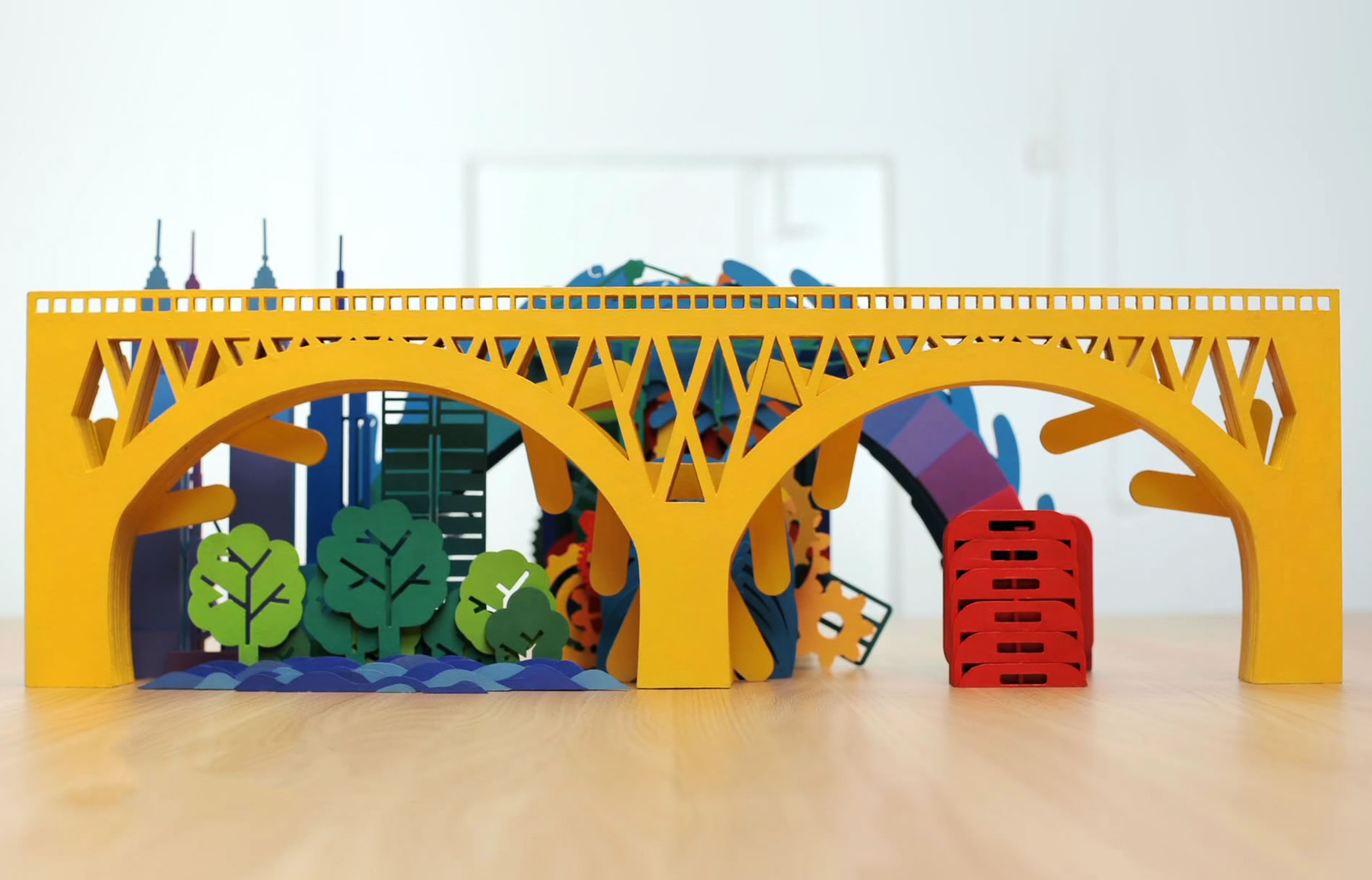 yellow bridge, stop-motion video for Curtin University Degree