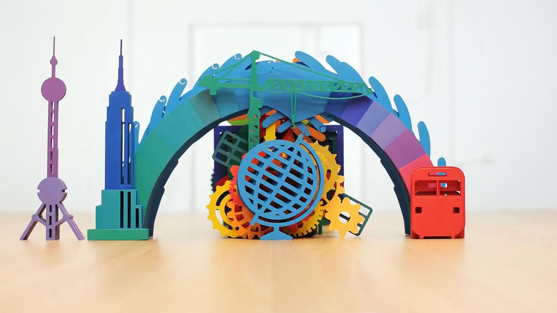rainbow bridge and world globe, Curtin University Degree video