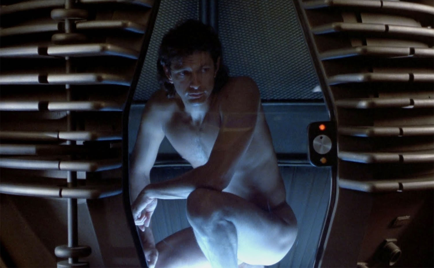 jeff goldblum in the fly.  david cronenberg body horror cinema