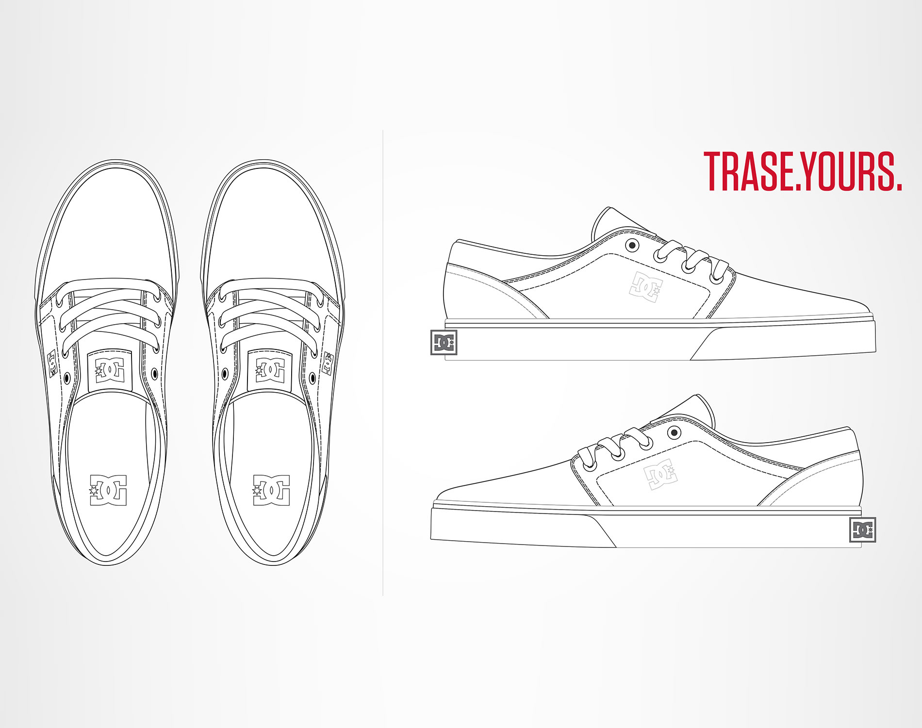 template for the trase shoe for dc shoes -talenthouse competition