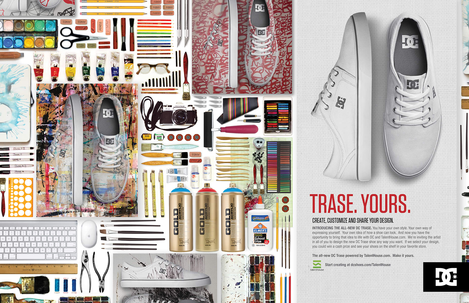 design the trase shoe for dc shoes - a talenthouse competition