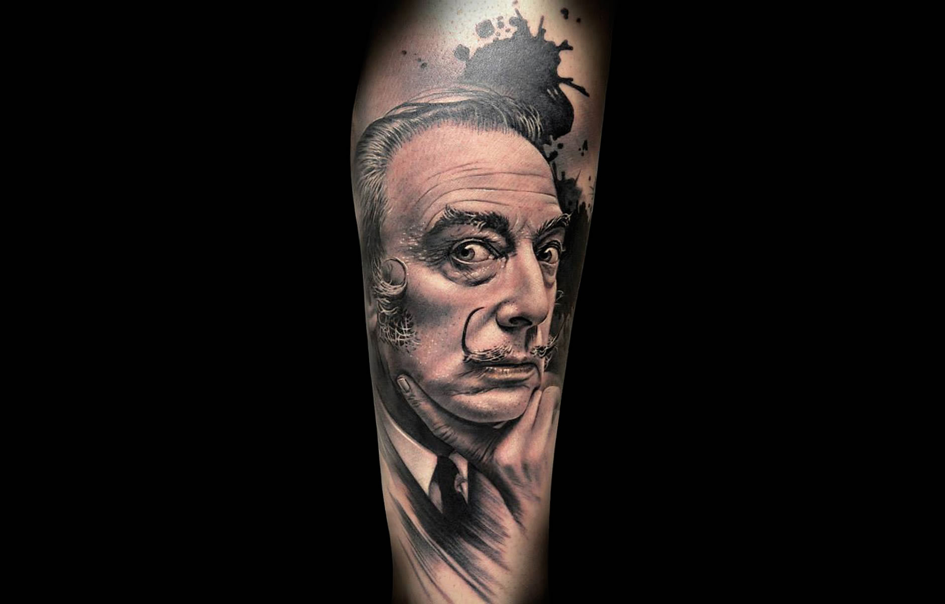 Tattoos of the Art Genius Dali, the Grim Reaper, and More