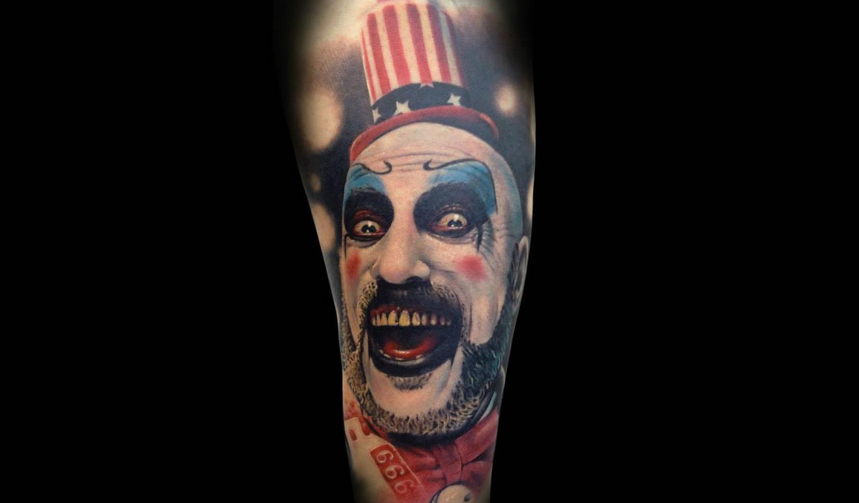 crazy clown tattoo