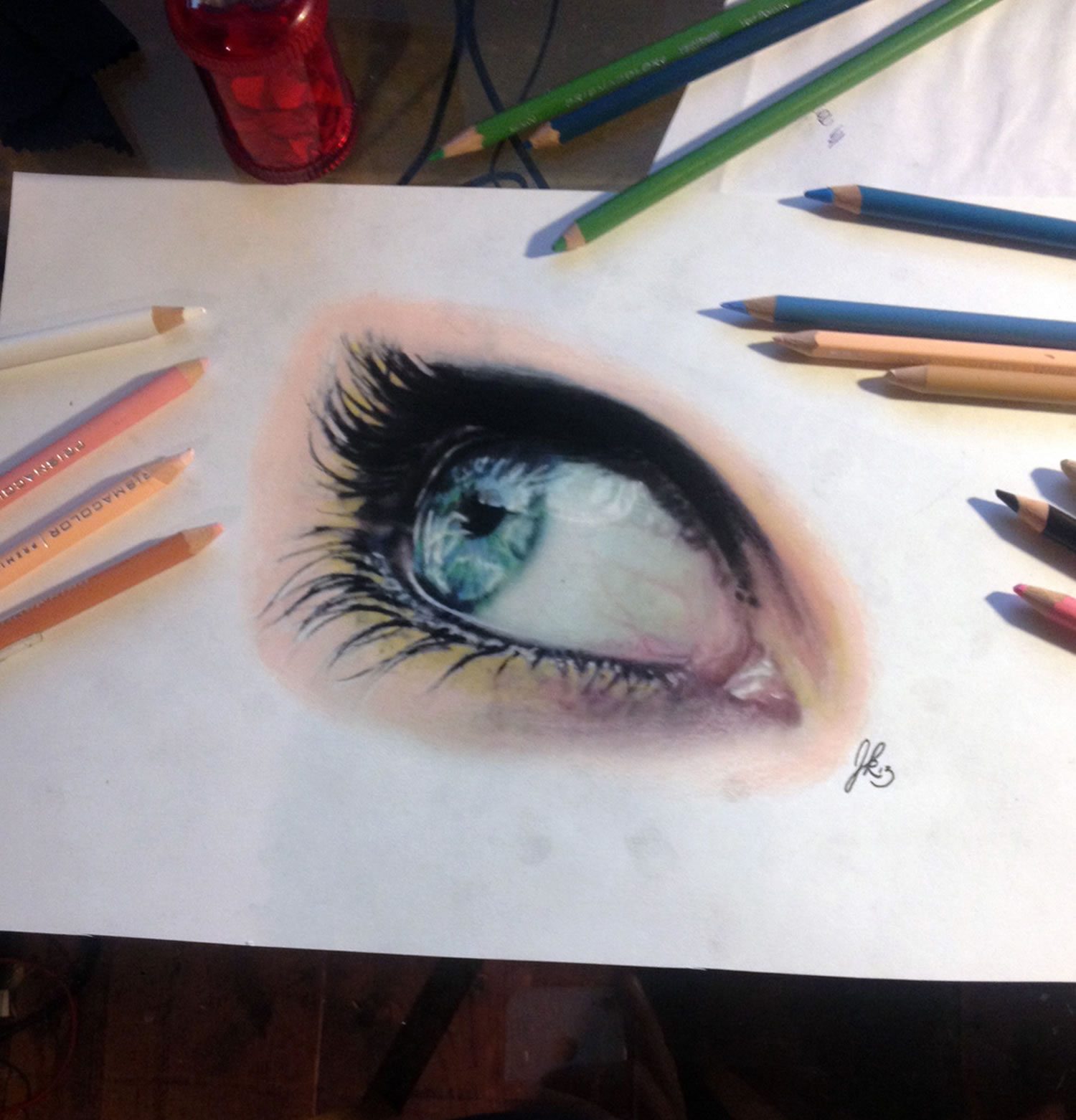 blue eye, 3d drawing by joshua krecioch