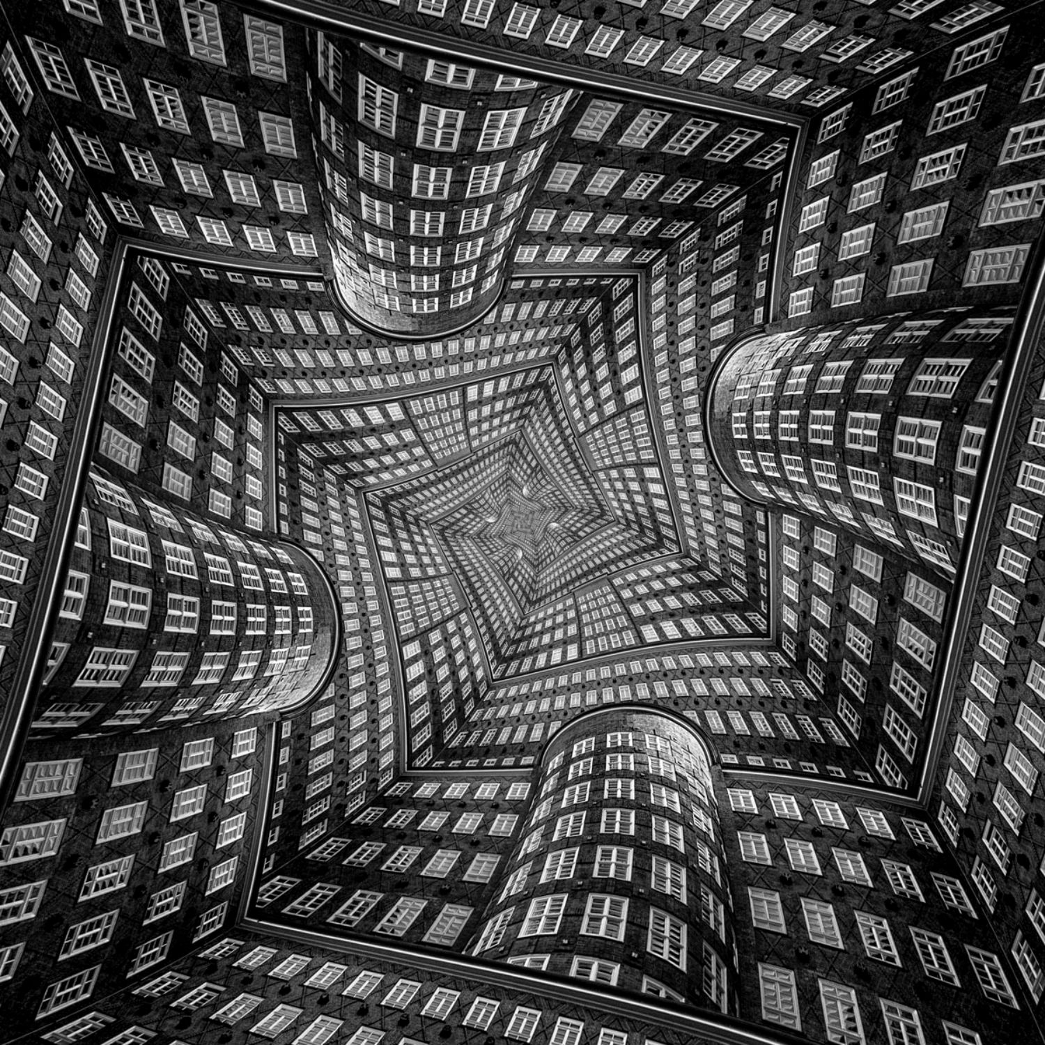 Markus studtmann architecture Illusion digital art black white