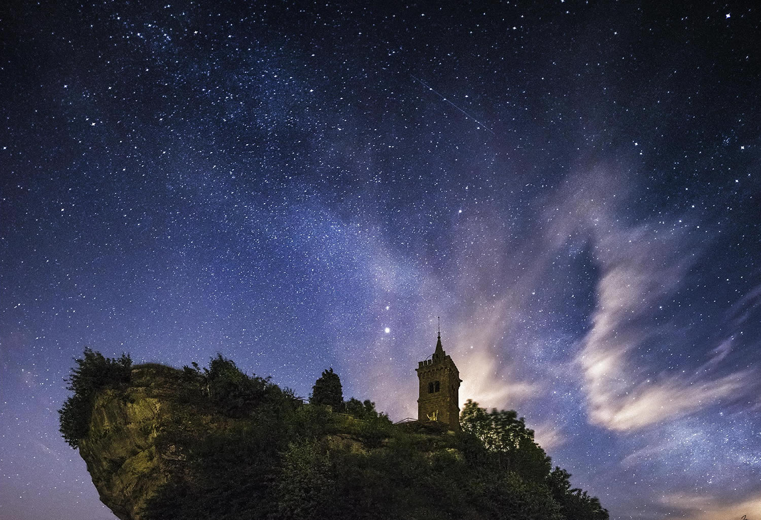 church and milky way sky by nicholas reommelt