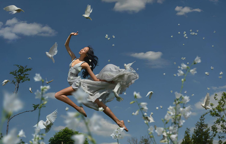 Ravshaniya surreal photography colour flight blue sky model