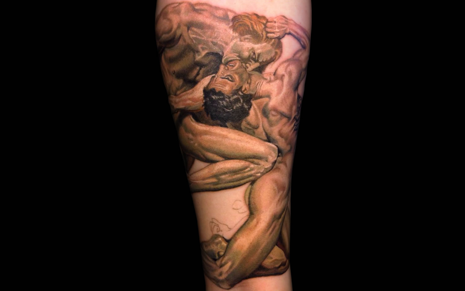Dante and Virgil in Hell tattoo