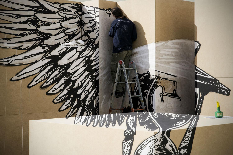 truly design anamorphic graffiti