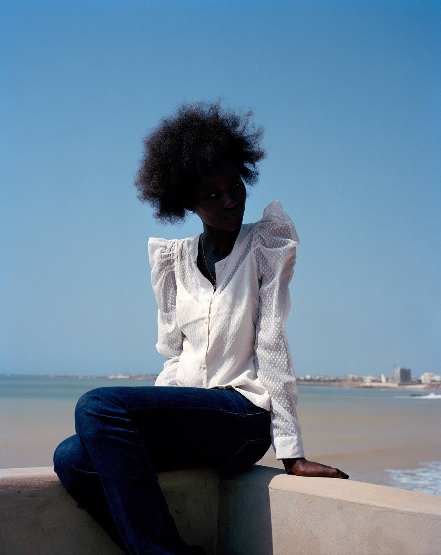 african woman in white blouse, photo by viviane sassen