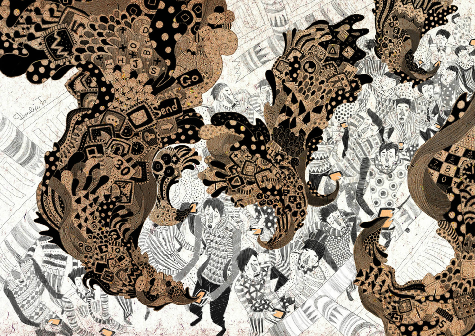 elaborate patterns; an illustration by yukai du