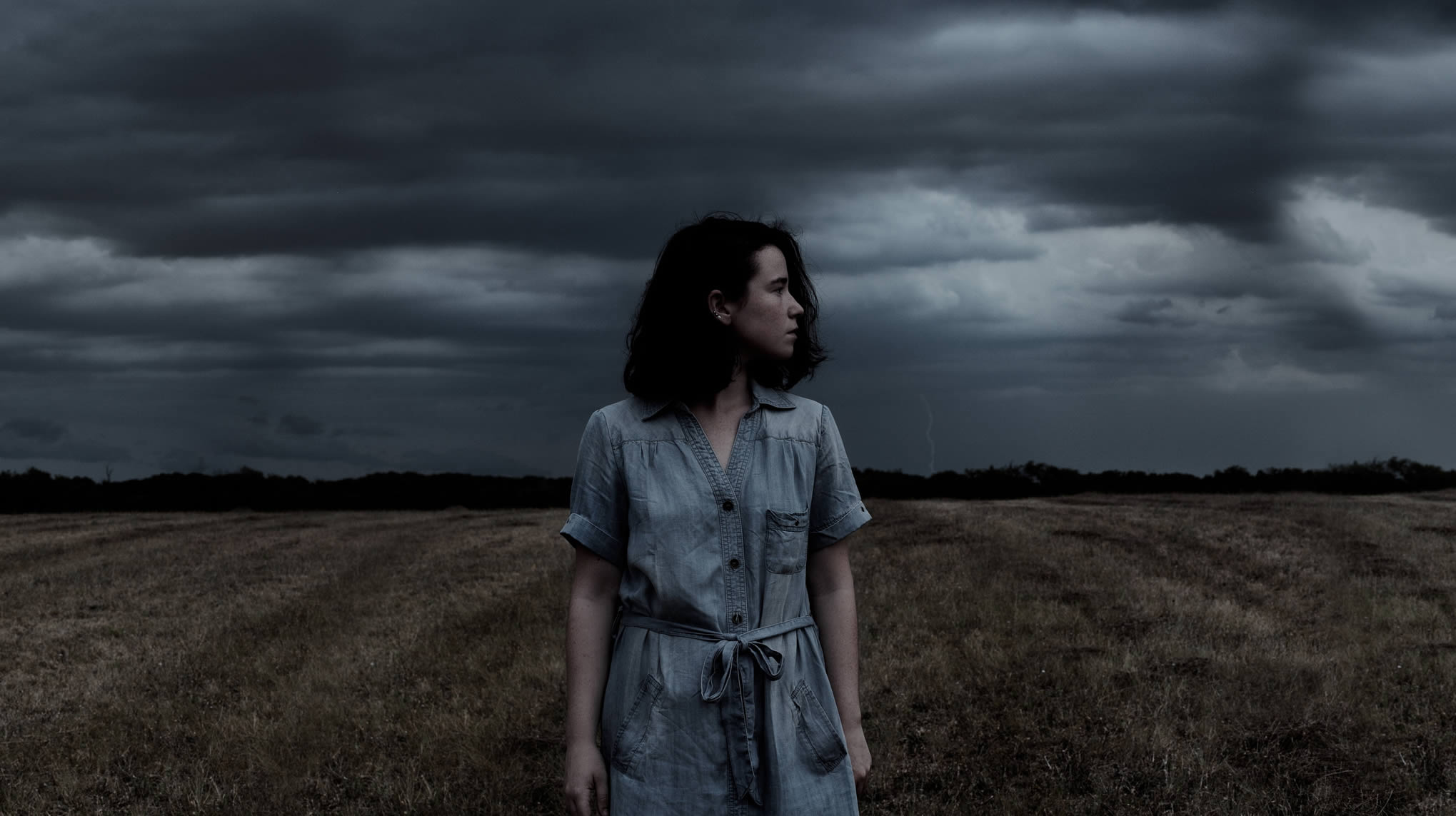 "woman and storm, ""Untitled"" by Lauren Withrow."