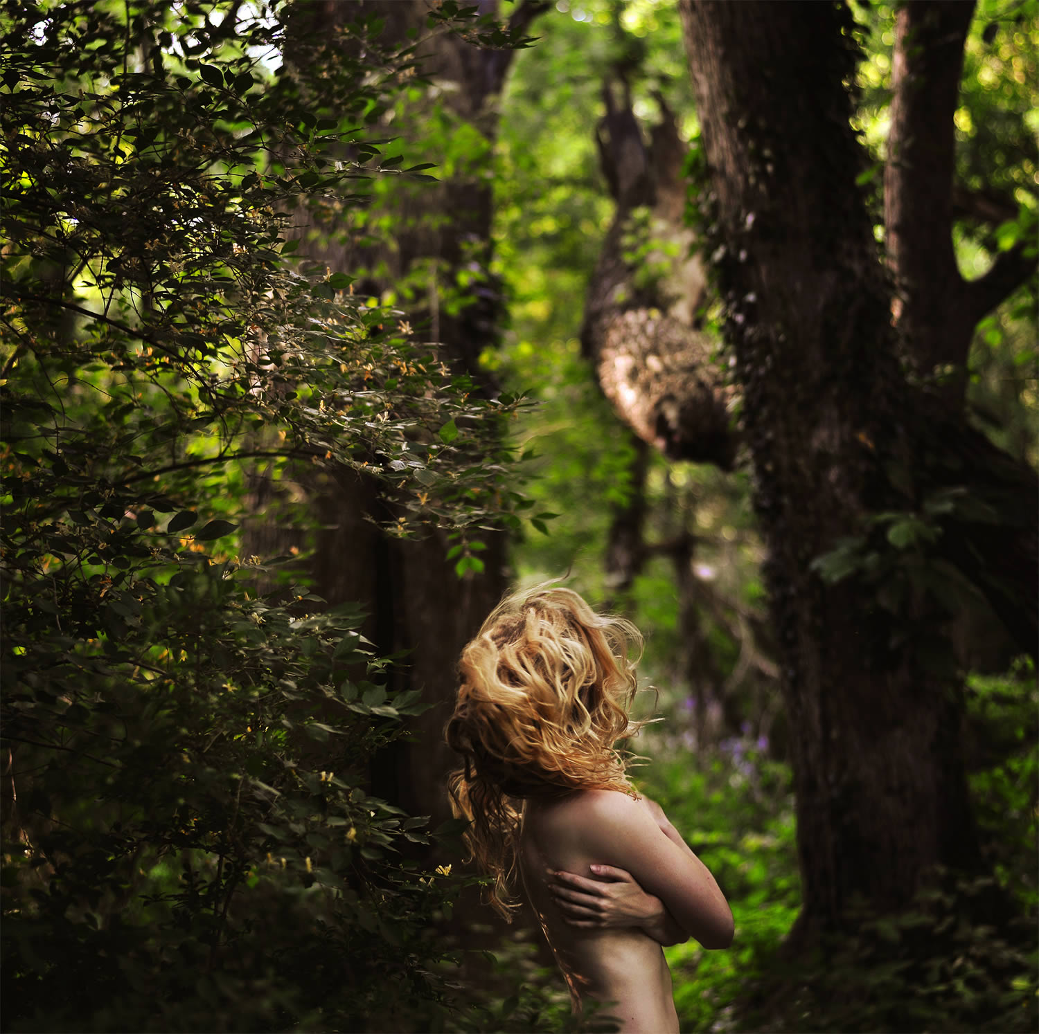 blonde girl in forest, Rachel Baran