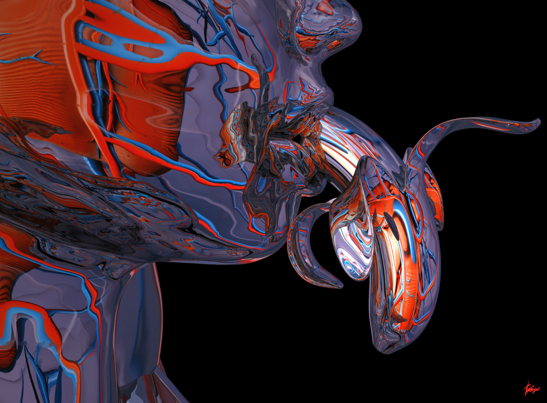 Antoni Tudisco digital art black purple red