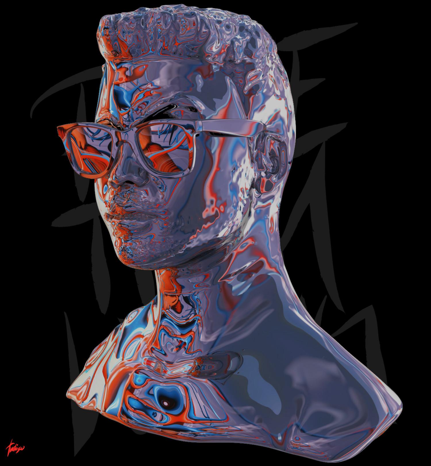 Antoni Tudisco digital art black purple red hamburg sunglasses