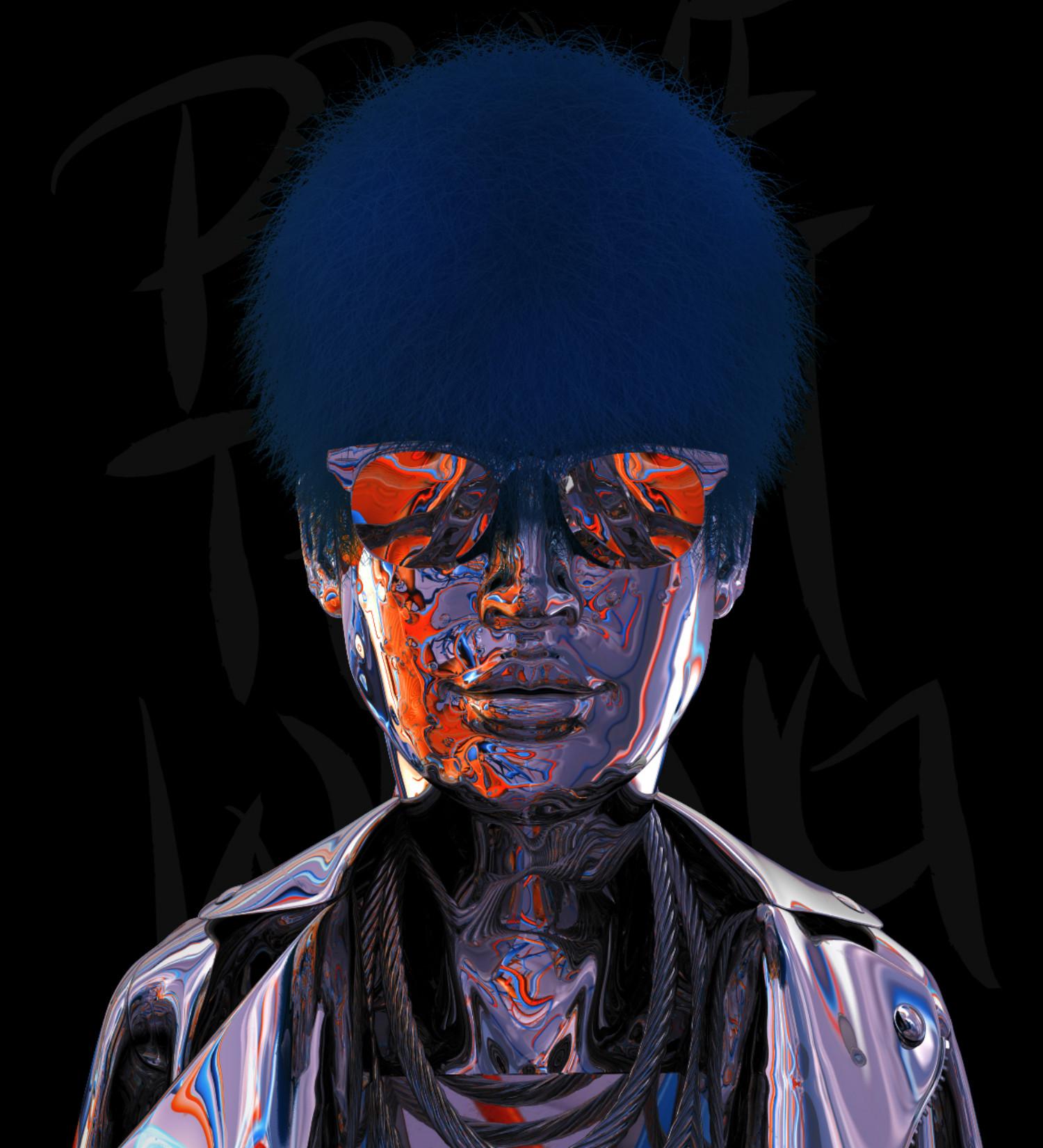 Antoni Tudisco digital art black purple red hamburg shades afro