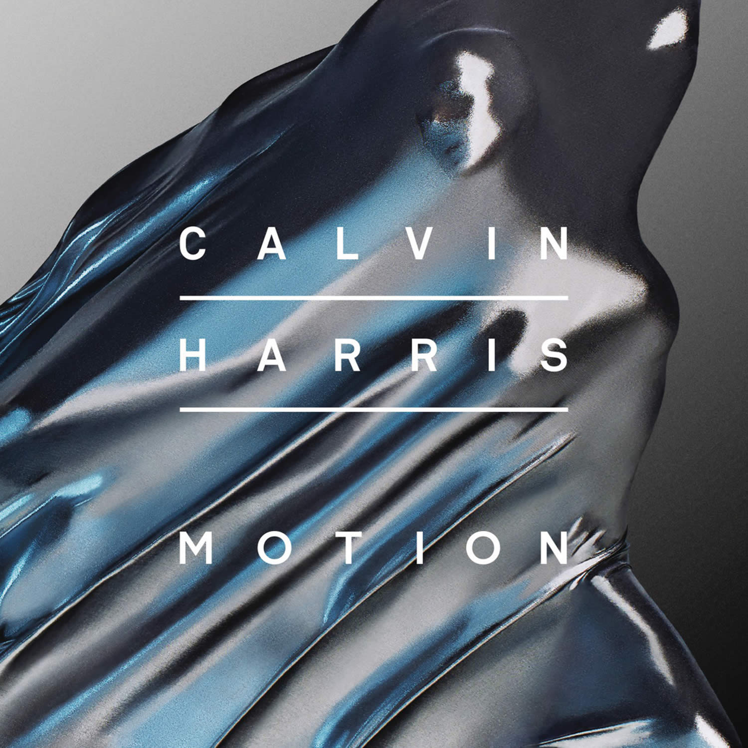 motion by calvin harris, silver cloth over person