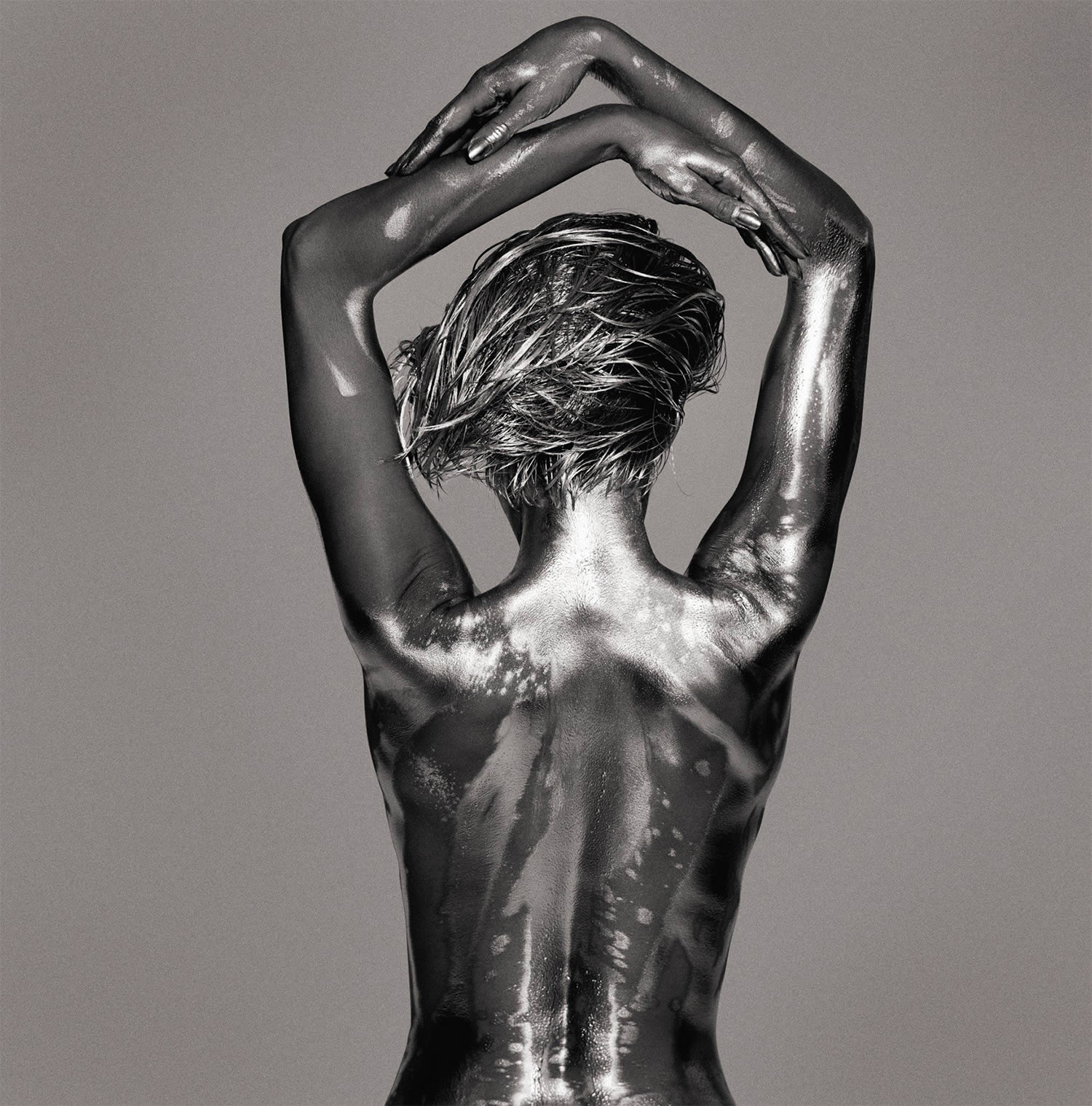 nude silver model from argentum photo series