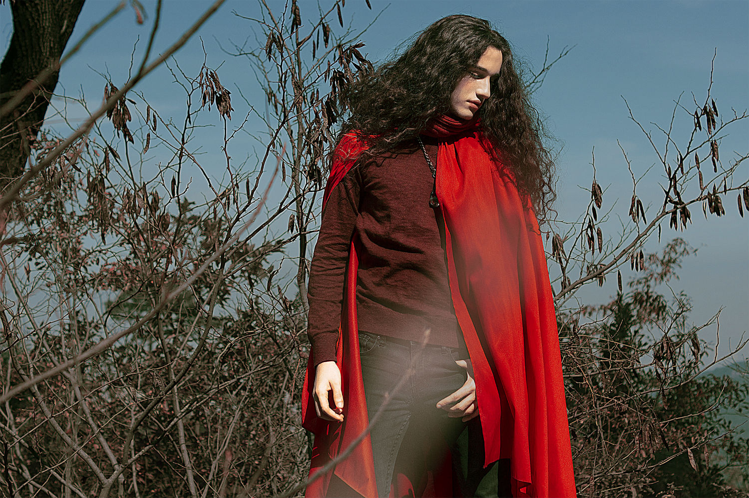 jvdas berra fashion photography halloween gothic red riding hood