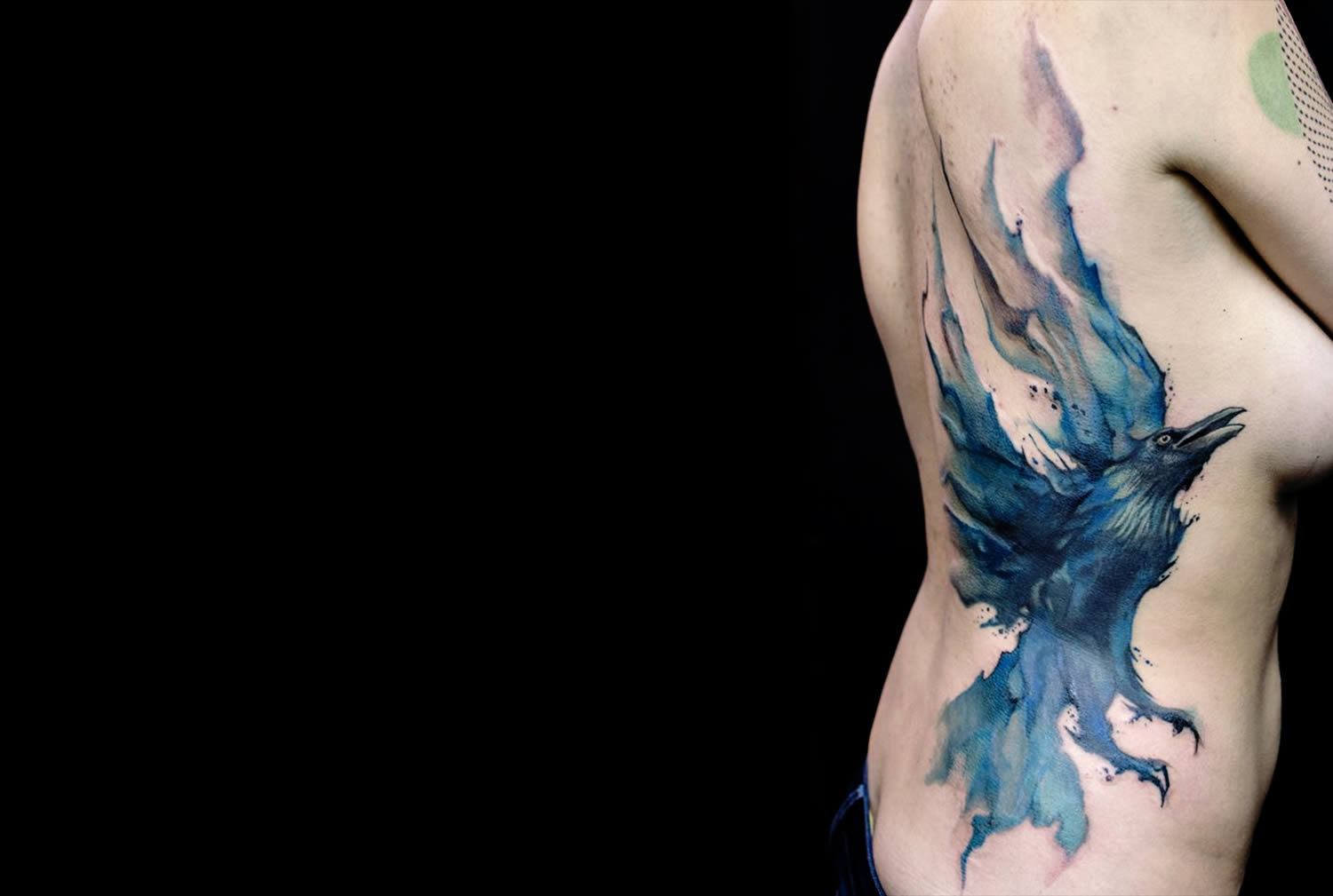 bird watercolor tattoo by klaim