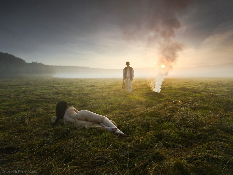leszek paradowski photography landscape dramatic field fire