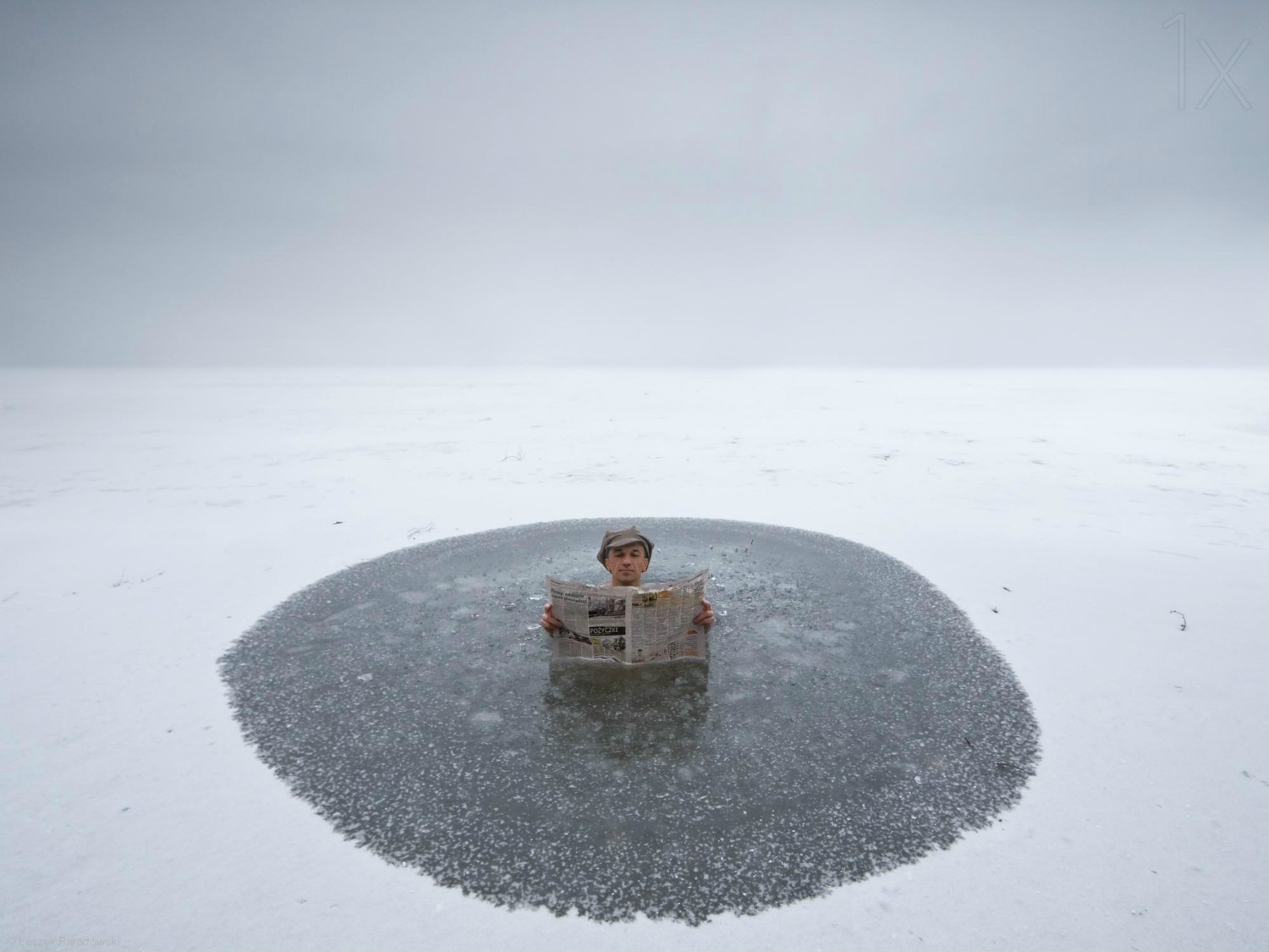 leszek paradowski photography landscape dramatic ice pool