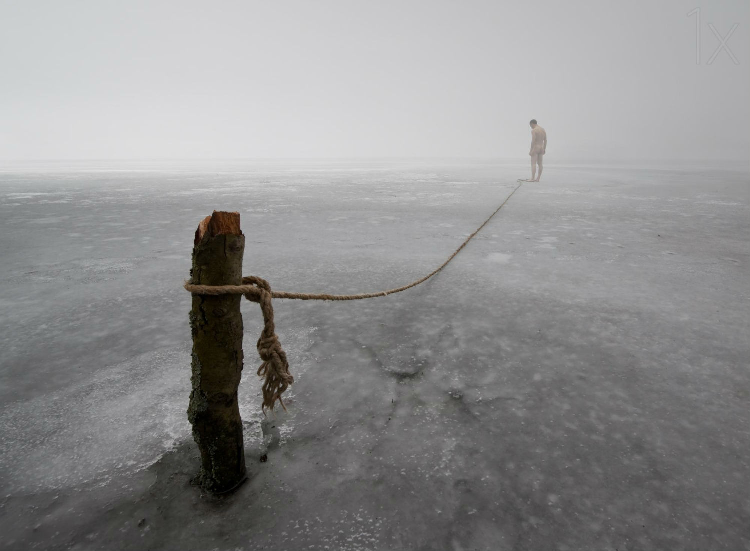 leszek paradowski photography landscape dramatic ice rope illusion