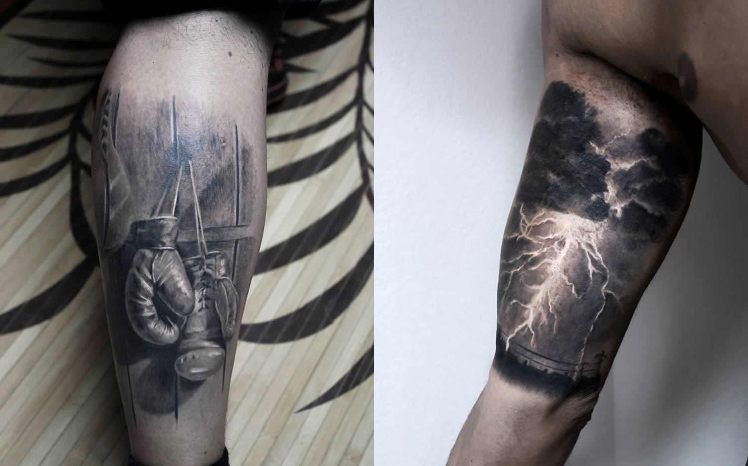 boxing gloves and thunderstorm tattoos  by paolo murtas