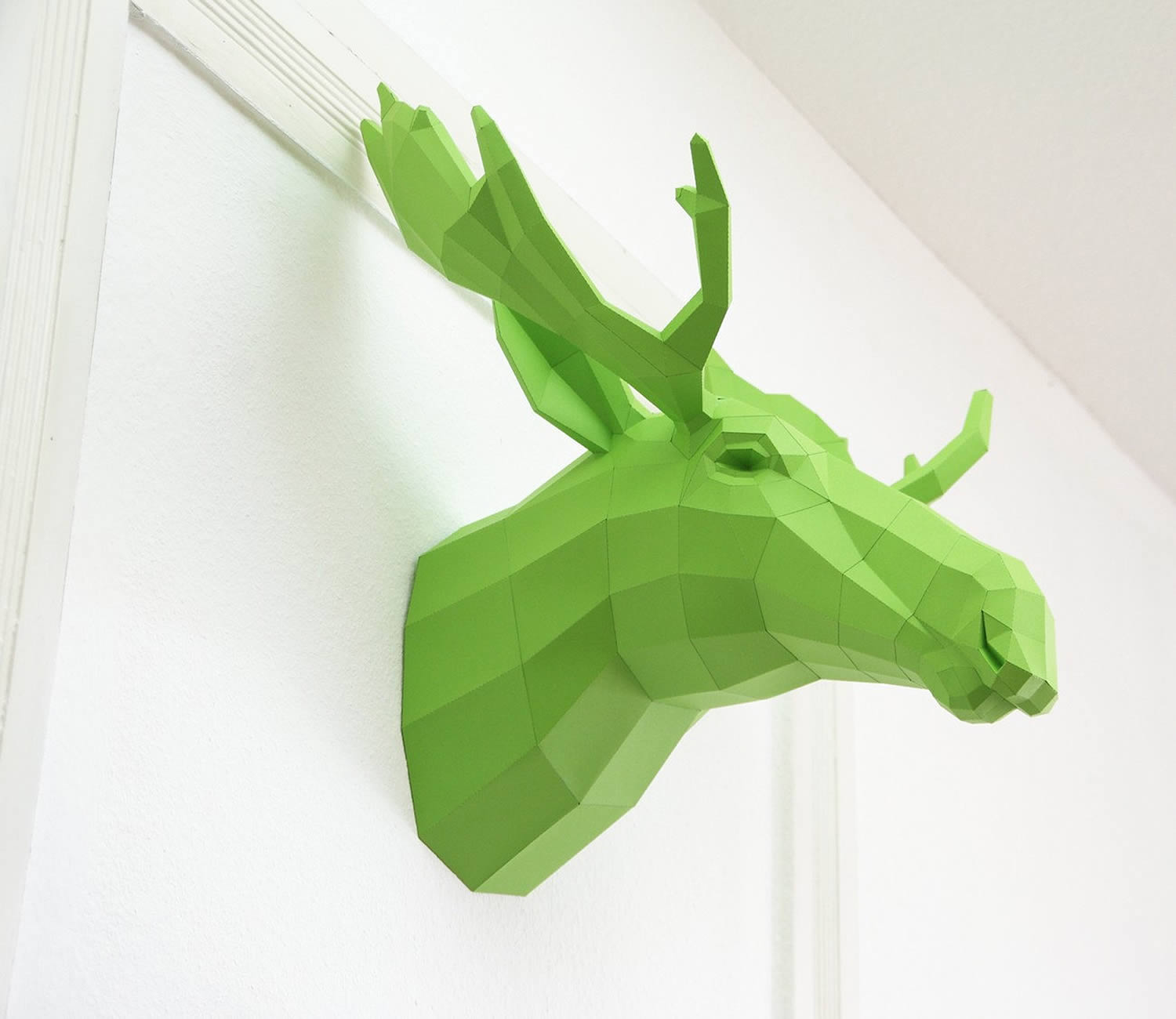 canadian moose, paper sculpture, green