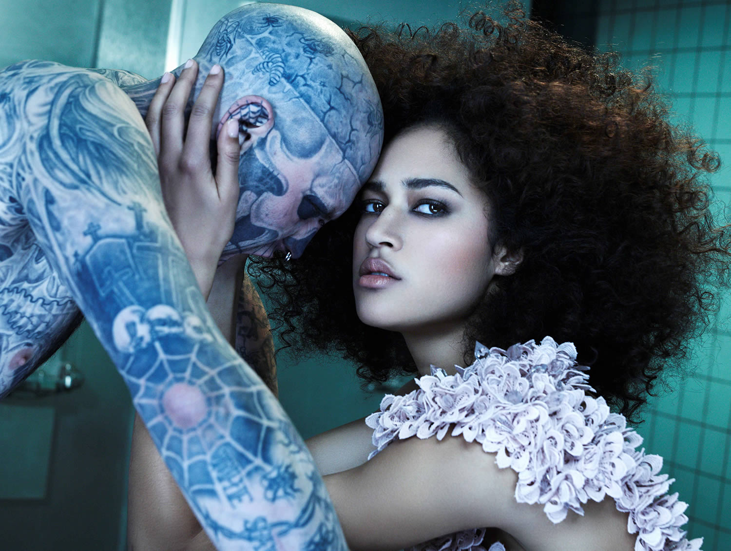 top model germany with rick genest and model