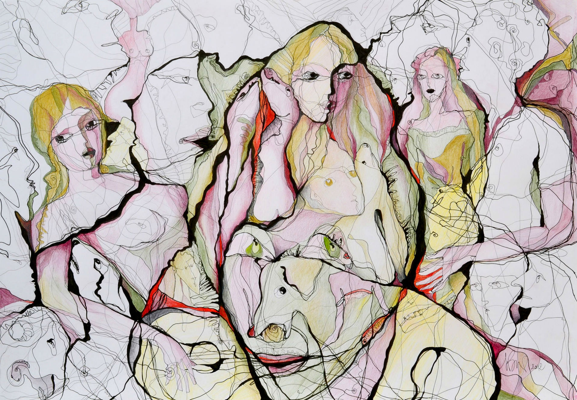 A Web of Abstract Drawings by Boicu Marinela
