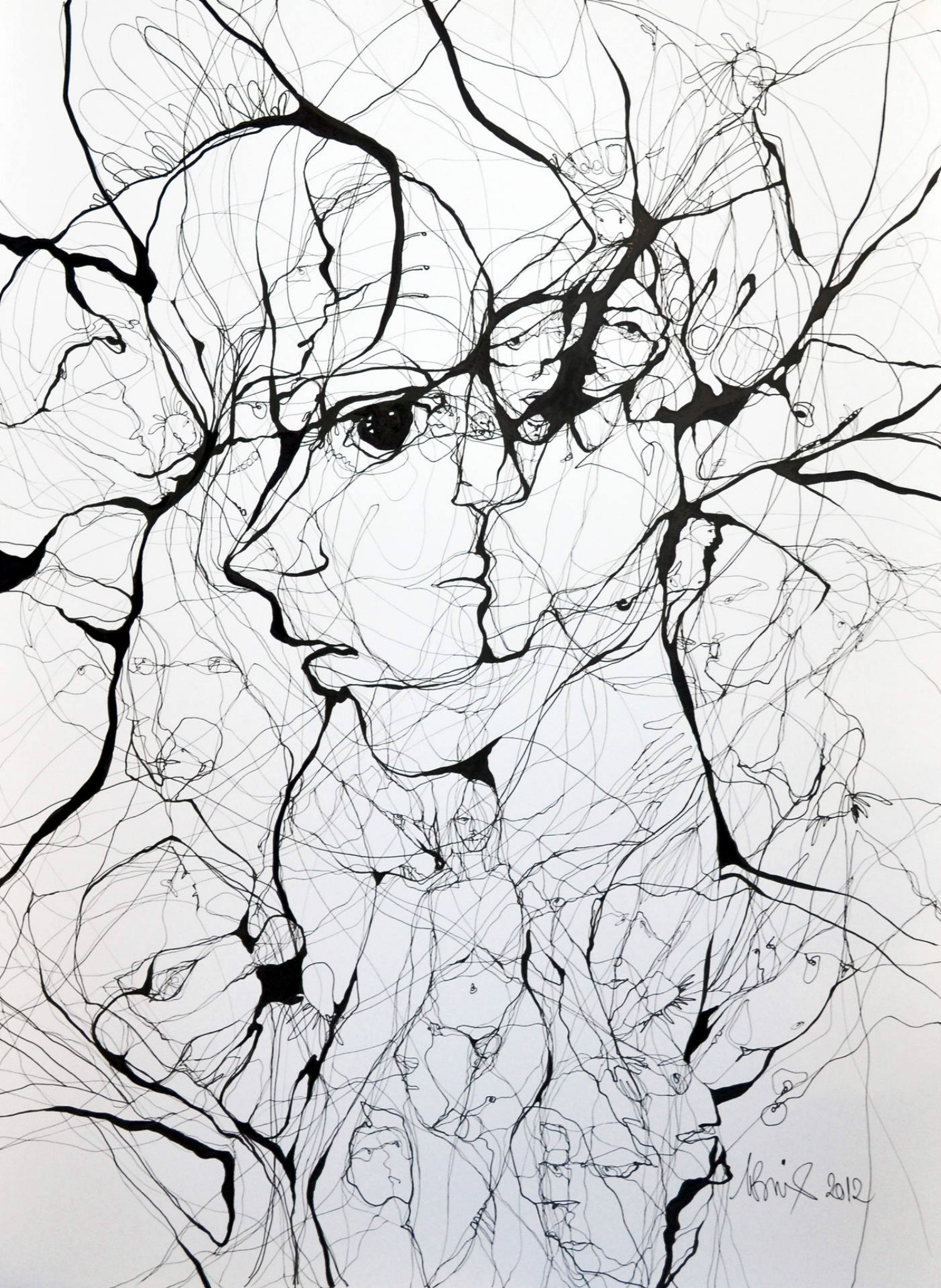 Boicu Marinela illustration drawing erotic portrait