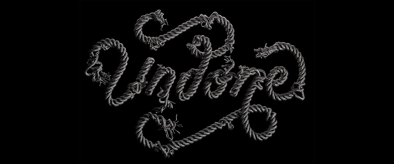 metal wire typography