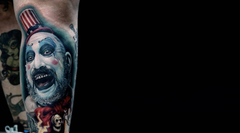 mad clown tattoo