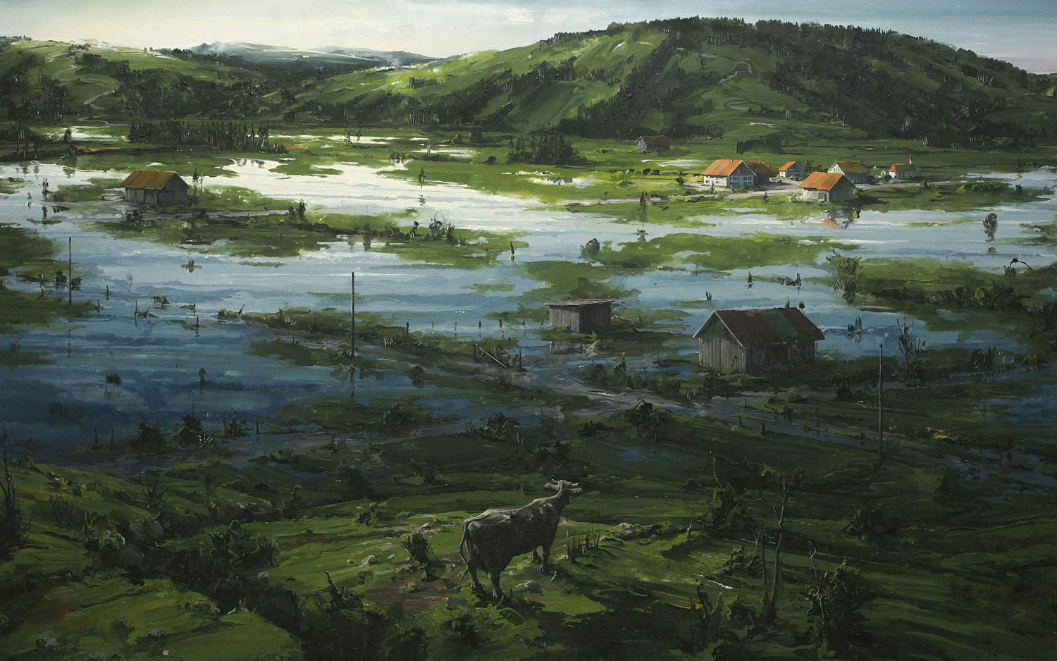 sven kroner painting landscapes apocalyptic earth