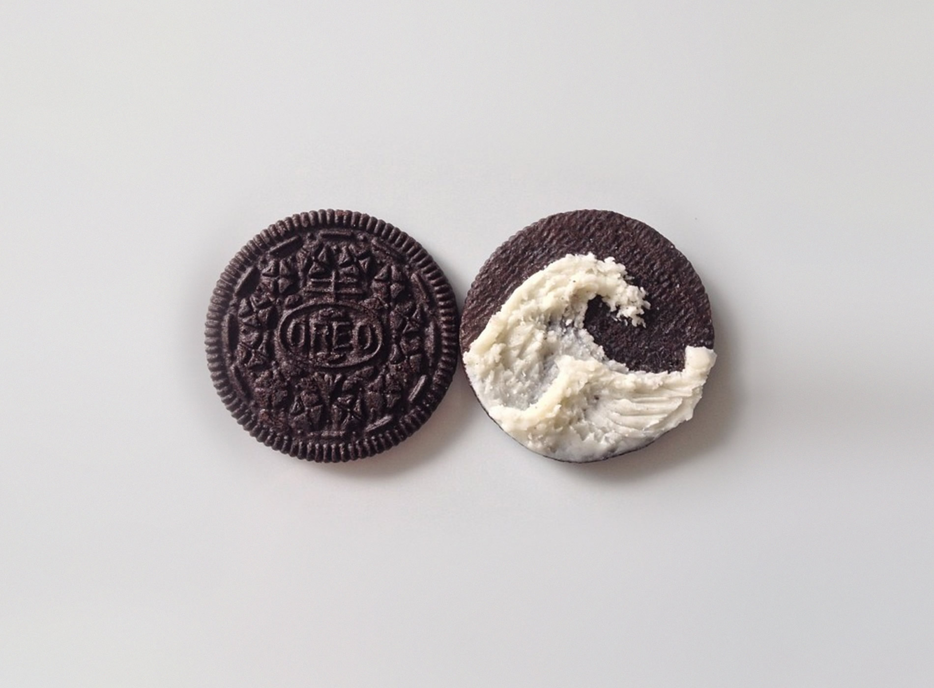 The Great Wave off Kanagawa, oreo cookie