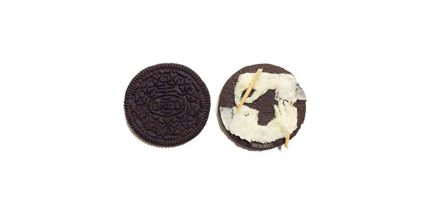 mc escher drawing hands, oreo cookies