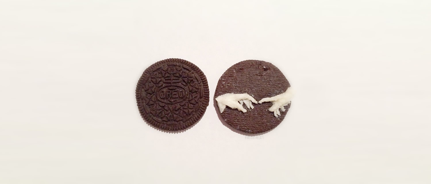 michaelangelo hands, oreo cookies