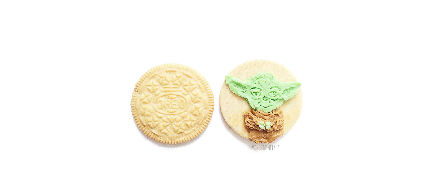 yoda in oreo cookie cream