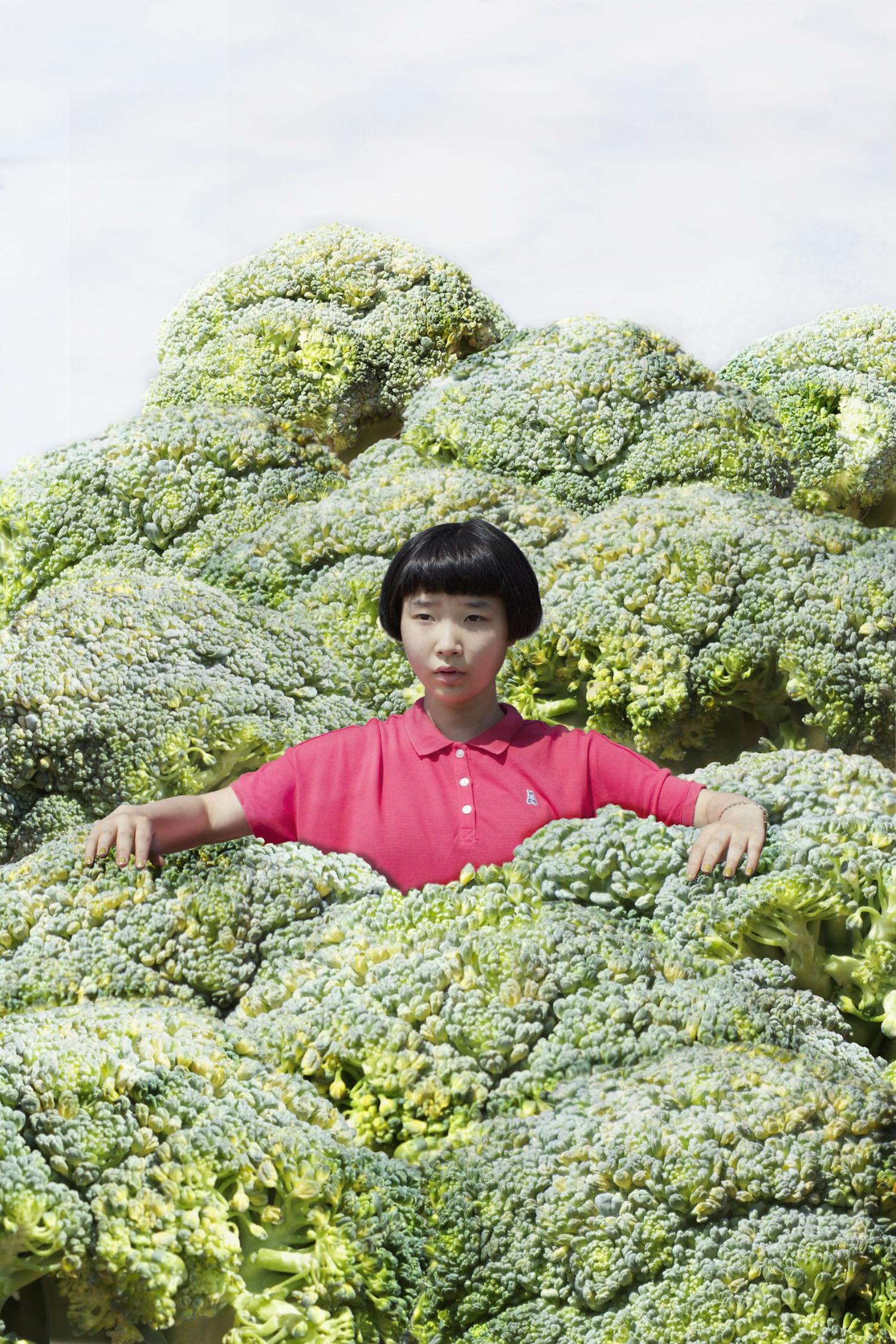 Izumi Miyazaki self portrait japan quirky green vegetables