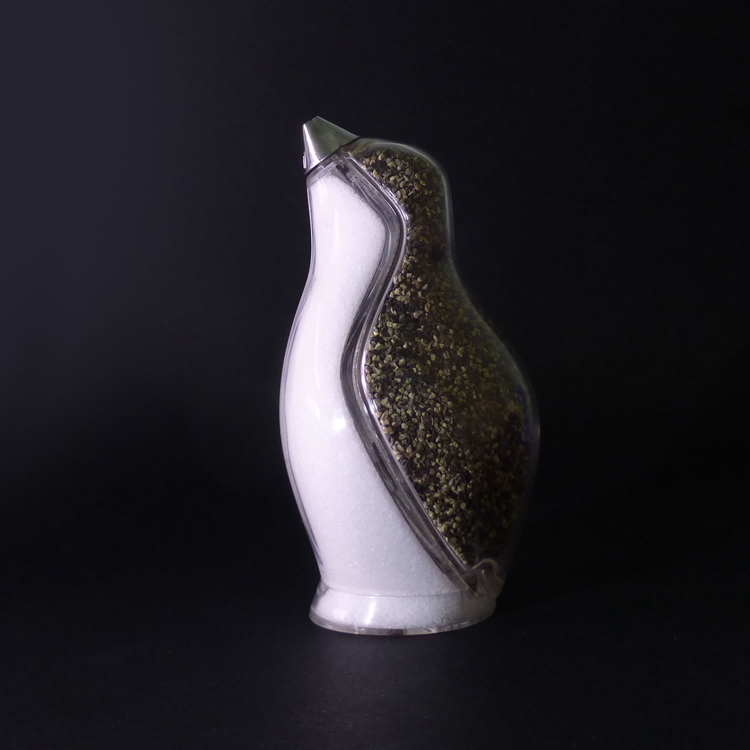 """If you have been watching the TV series """"Gotham,"""" you got to get a Penguin salt and pepper shaker. Designed by Simon Colabufalo."""