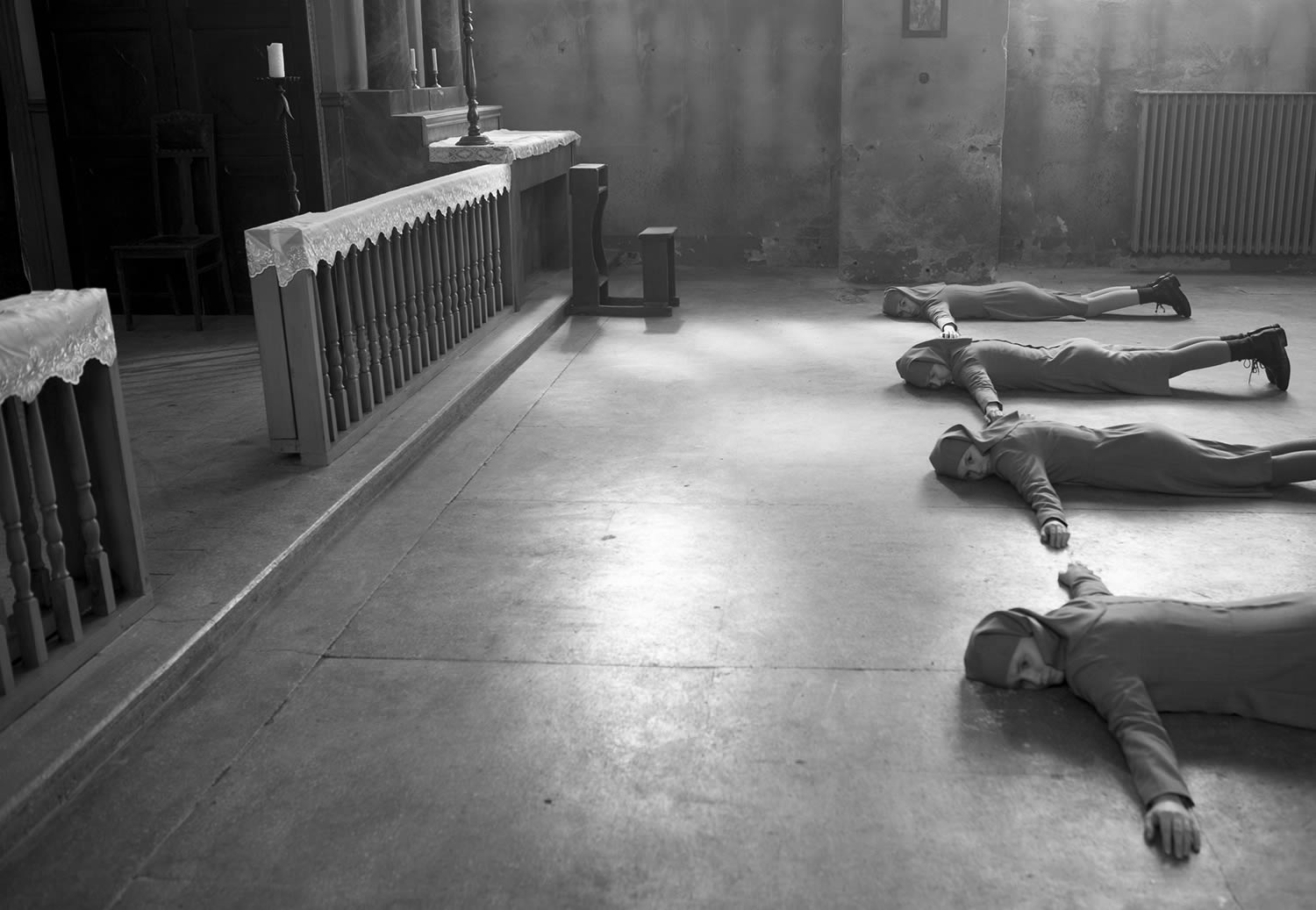 nuns lying on floor in IDA movie