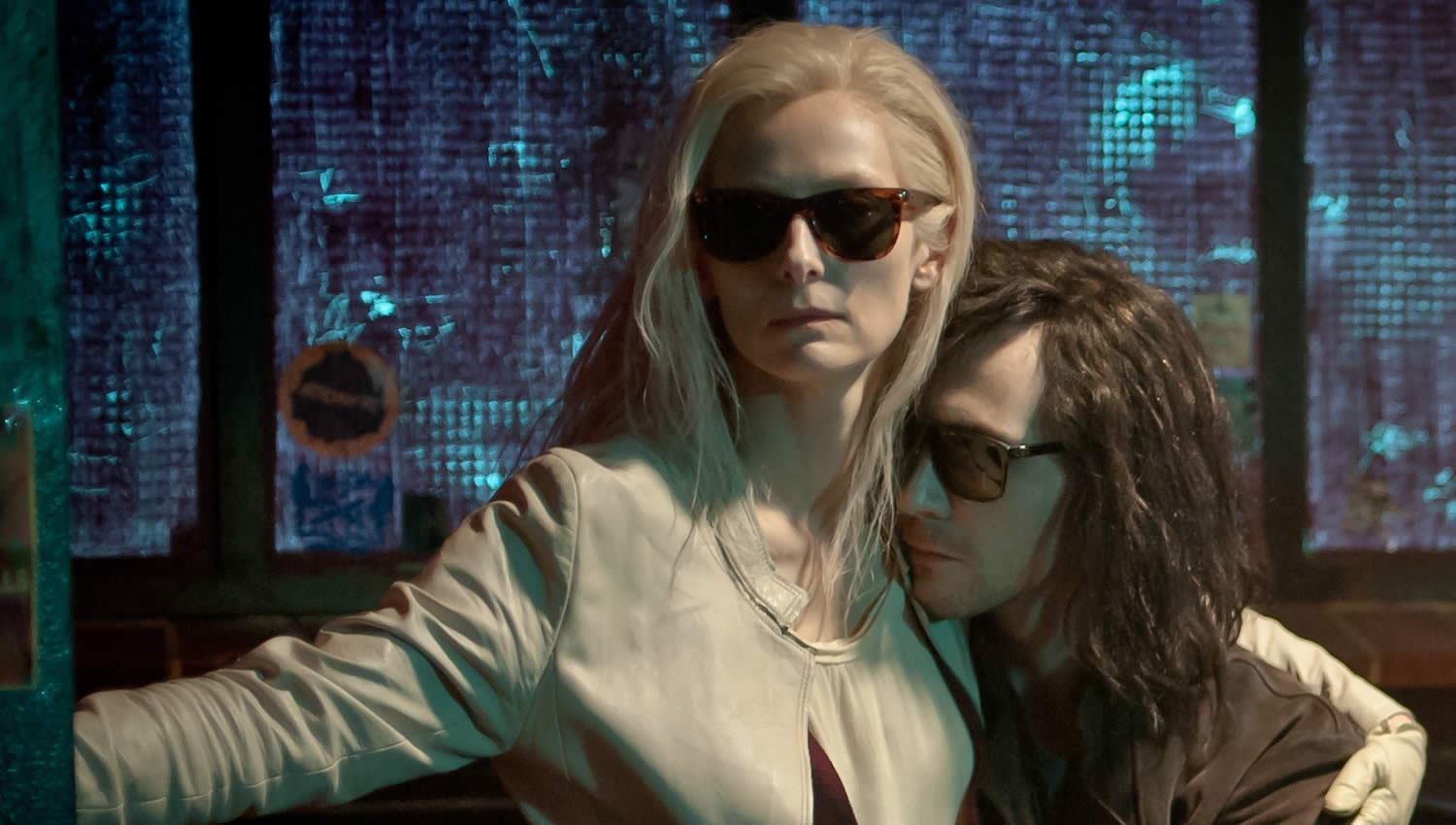 couple holding each other in only lovers left alive