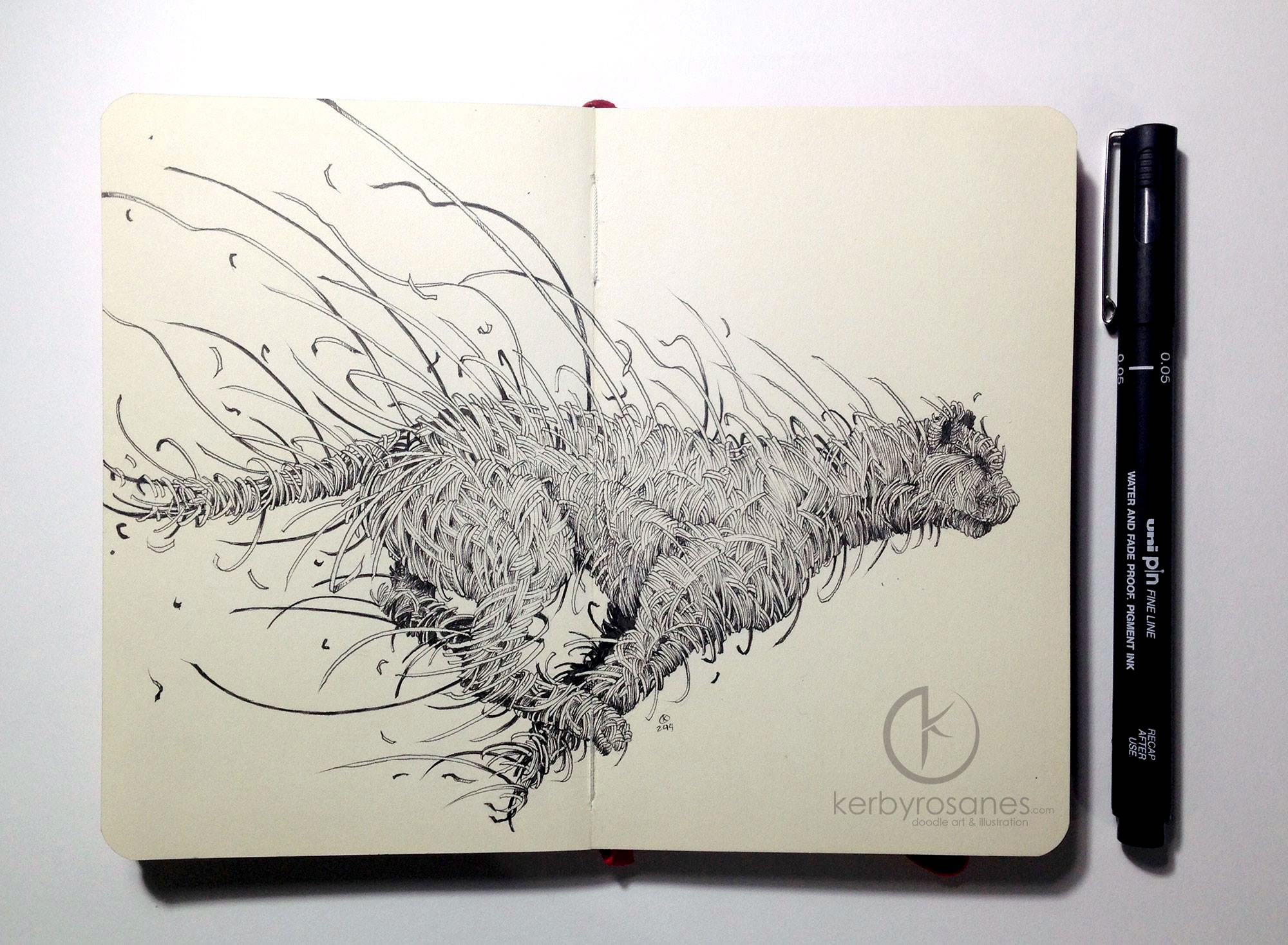 Kerby Rosanes' Sketchbook Drawings from 2014