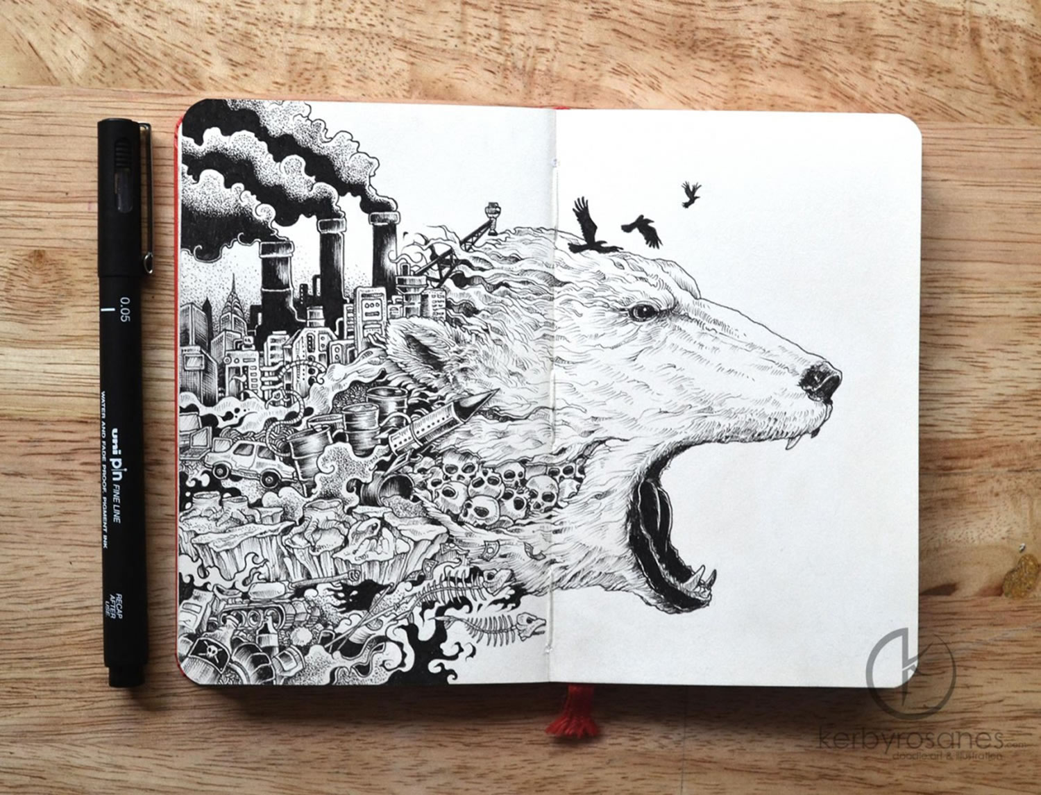 meltdown, factory sheep drawing