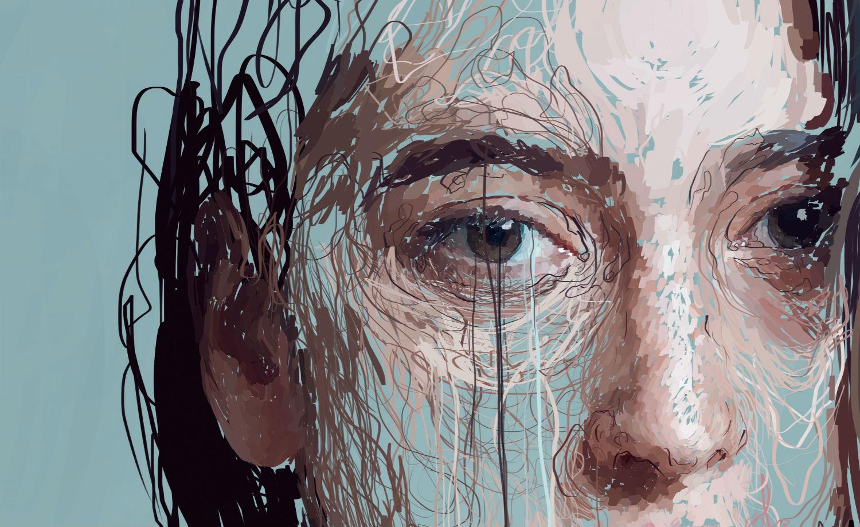 Marcello Castellani digital art paint portrait eye close up