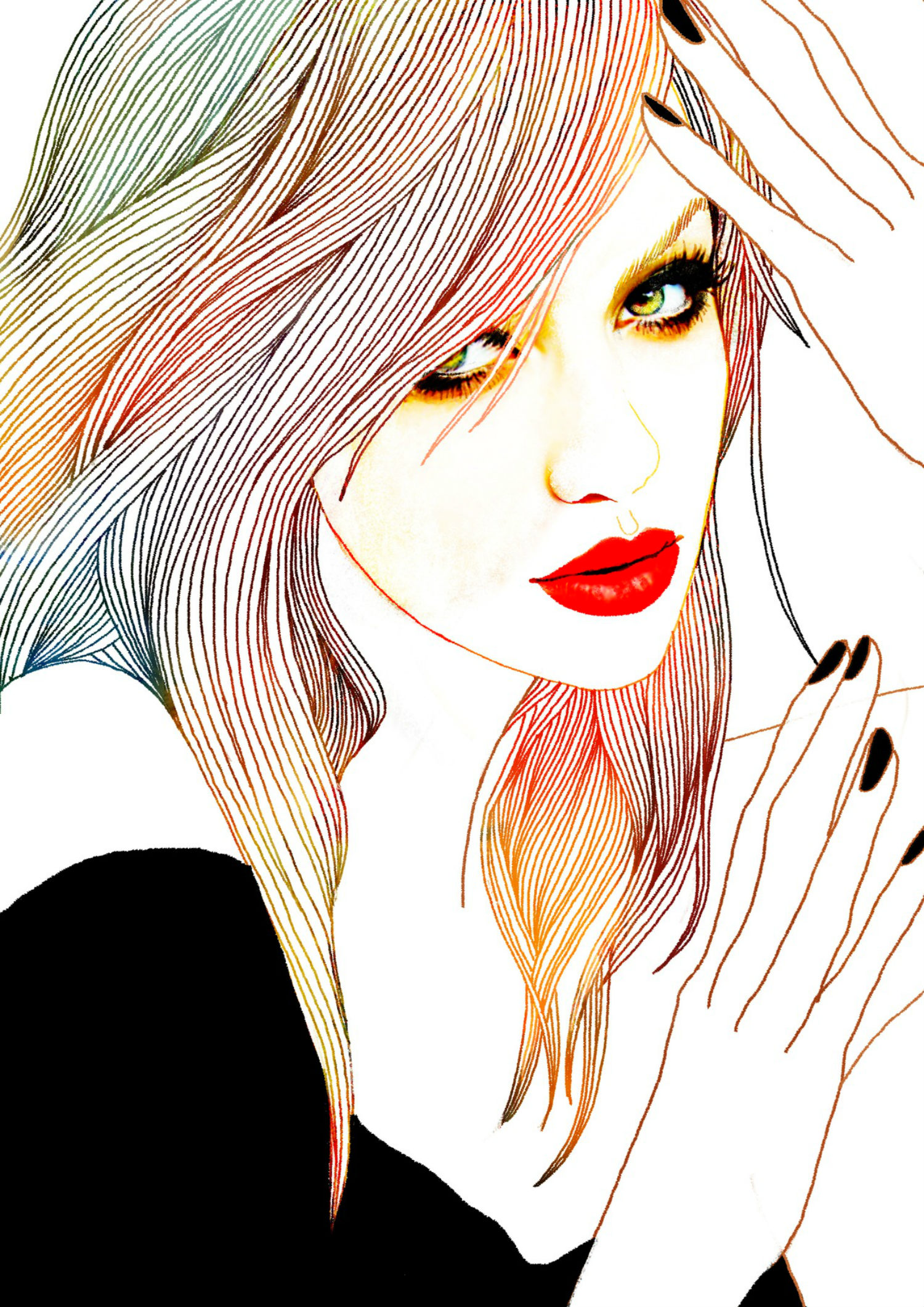 soulist aurora illustration drawing colour portrait woman